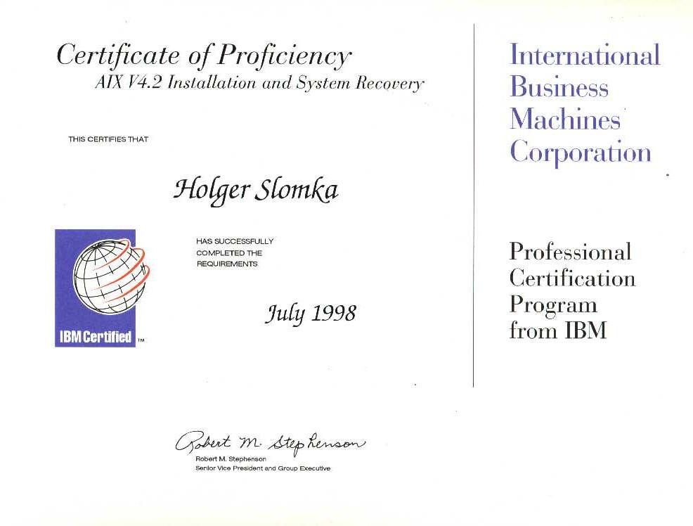 IT Systemsanalyst Slomka - Freelancer - Unix / SAP® / SAP® Landscape ...